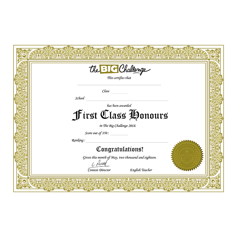 First Class Honours Diploma  First Class Honours